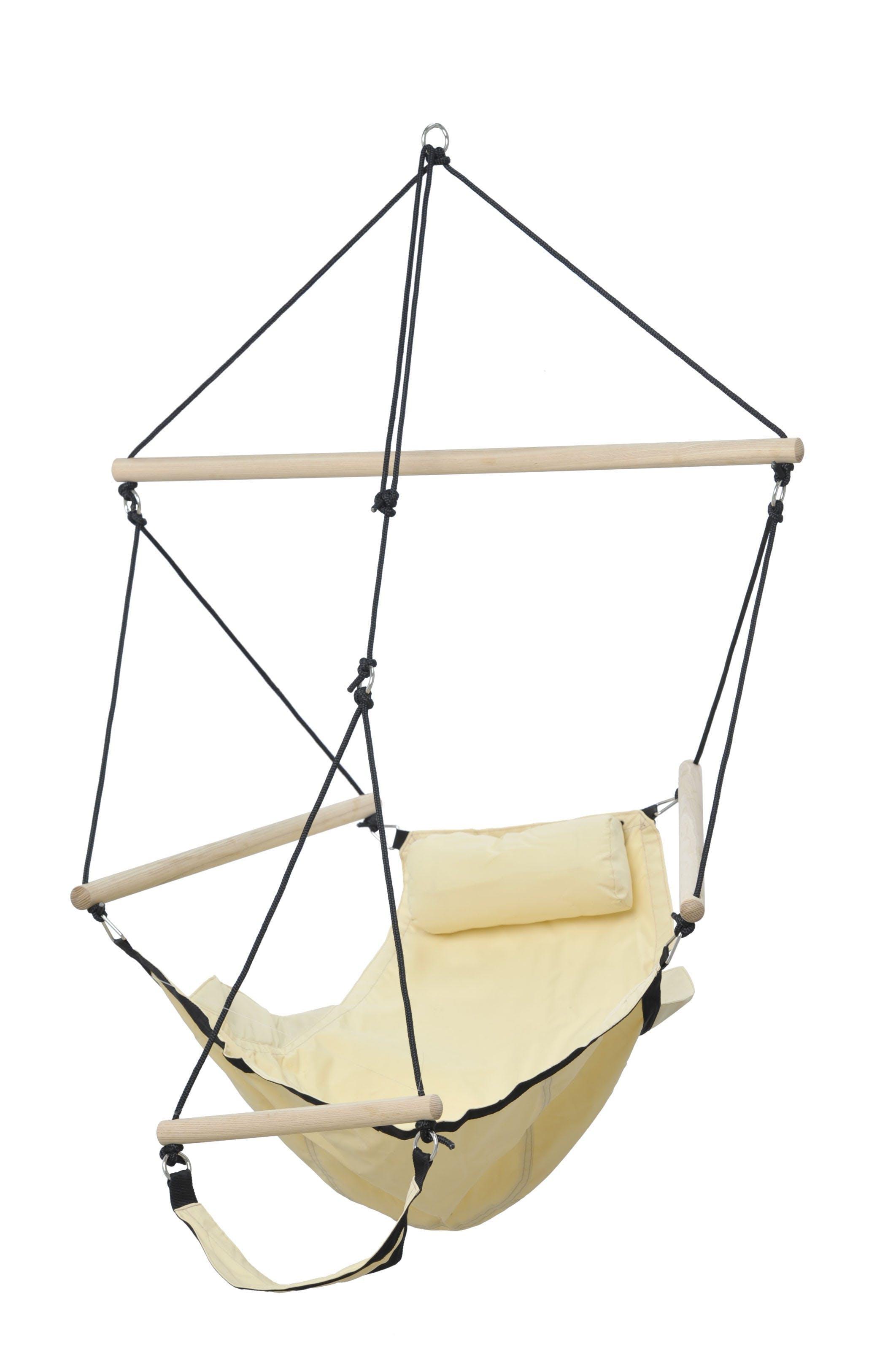 Hamac chaise suspendu avec repose pied SWINGER Sable 106x78cm AMAZONAS