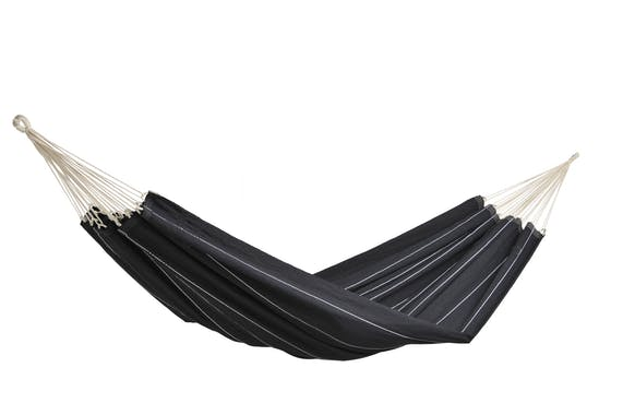 Hamac de jardin 2 places BARBADOS Black Noir 230x150cm AMAZONAS