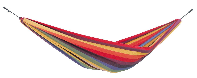 Hamac de jardin 2 places COLOMBIANA Rainbow Jaune 220x120cm AMAZONAS