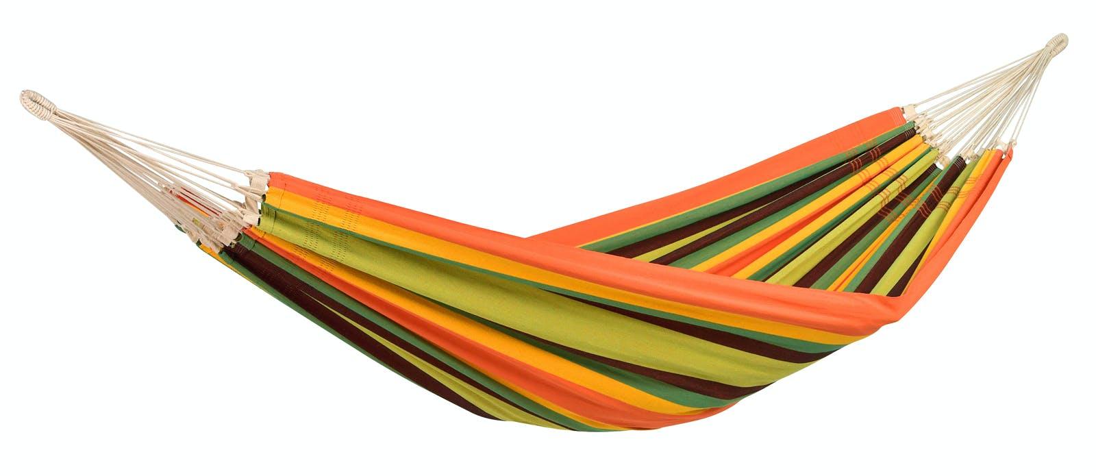Hamac de jardin Paradiso Esmeralda vert orange jaune XXL 250x175cm AMAZONAS