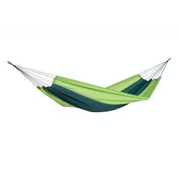 Hamac de jardin / voyage / randonnée en soie de parachute Silk Traveller Forest Green XL AMAZONAS