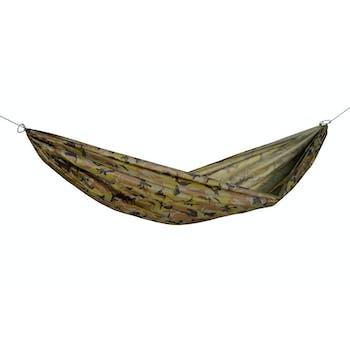 Hamac de jardin / voyage / randonnée ultra léger, avec crochets Travel Set Camouflage L AMAZONAS