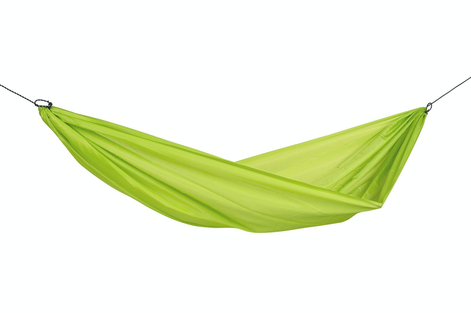 Hamac de jardin / voyage / randonnée ultra léger, avec crochets Travel Set Lime L AMAZONAS