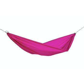 Hamac de jardin / voyage / randonnée ultra léger, avec crochets Travel Set Pink L AMAZONAS