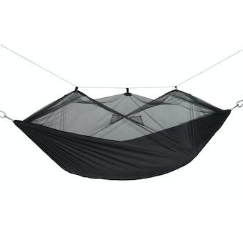 Hamac de jardin / voyage / randonnée Moustiquaire Moskito-Traveller Extreme noir L AMAZONAS