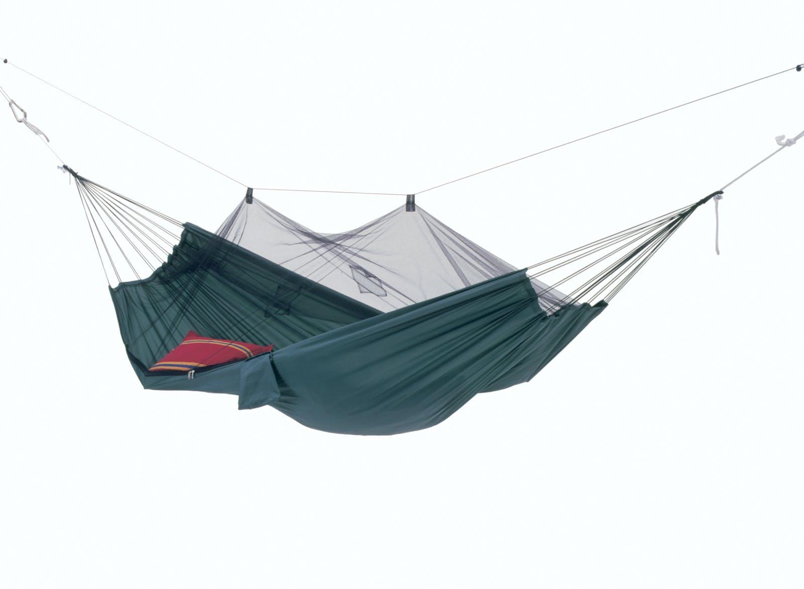 Hamac de jardin / voyage / randonnée Moustiquaire Moskito-Traveller vert L AMAZONAS