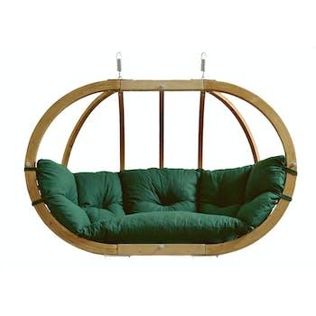 Fauteuil suspendu Globo Royal Chair Vert imperméable 176x118x72cm AMAZONAS