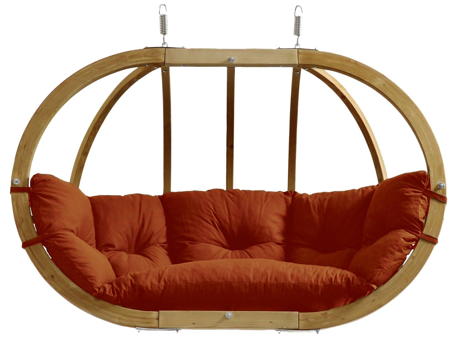 Fauteuil suspendu Globo Royal Chair Terracotta 176x118x72cm AMAZONAS