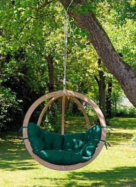Fauteuil suspendu Globo Chair Vert imperméable 121x118x69cm AMAZONAS