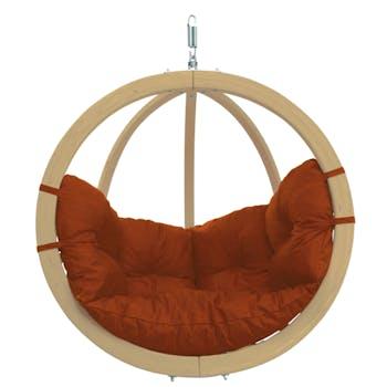 Fauteuil suspendu Globo Chair Terracotta 121x118x69cm AMAZONAS