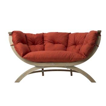Canapé de jardin Siena Duo Terracotta 171x94x67cm AMAZONAS