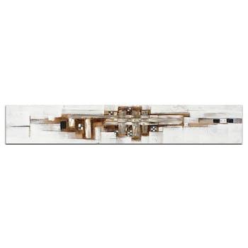 ABSTRAIT Toile panoramique Marron métal Acrylique 25x150