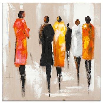 FEMMES Tableau Figuratif Multicolore Acrylique 70x70