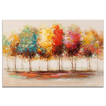 FORETS Peinture Paysage rectangle Multicolore Acryl. 120x80