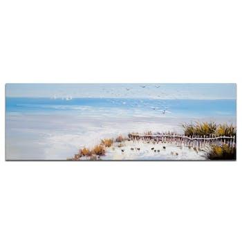 MARINE Tableau Paysage panoramique Bleu Acrylique 150x50
