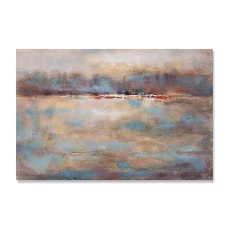 MARINE 80x120 Peinture abstraite acrylique Marron et Bleu