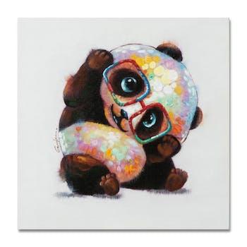 ANIMAUX 50x50 Peinture acrylique carrée Multicolor - Panda