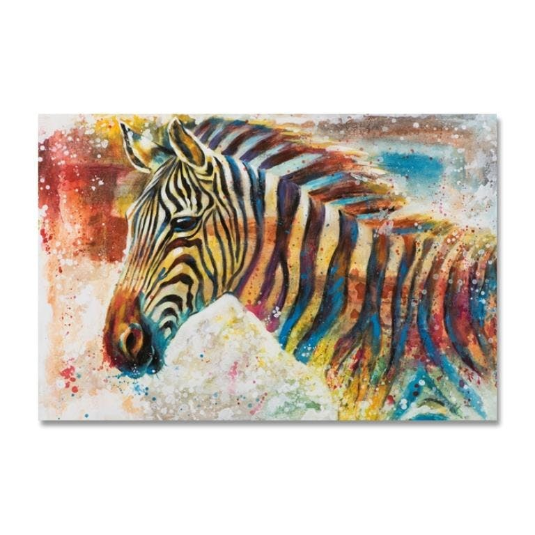 ANIMAUX 80x120 Peinture acrylique rectangle Multicolor