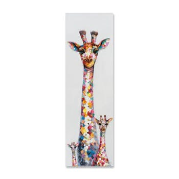 ANIMAUX 50x160 Peinture acrylique rectangle Multicolor - Girafes