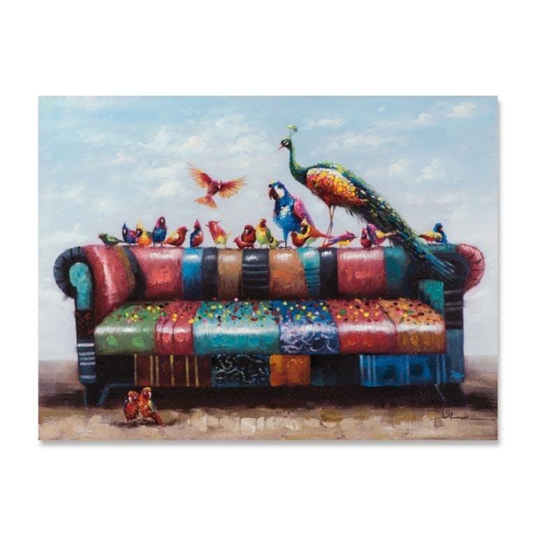 ANIMAUX 90x120 Peinture acrylique rectangle Multicolor
