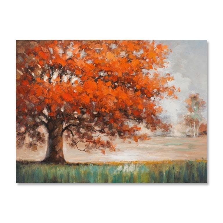 FORETS 120x90 Peinture acrylique rectangle Paysage Marron et Vert