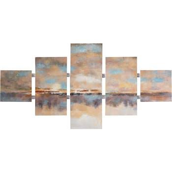 Tableau Abstrait Quintyque 80x162. Peinture acrylique