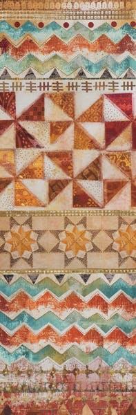 ABSTRAIT Peinture tapis étoiles colorées verticale 30x90