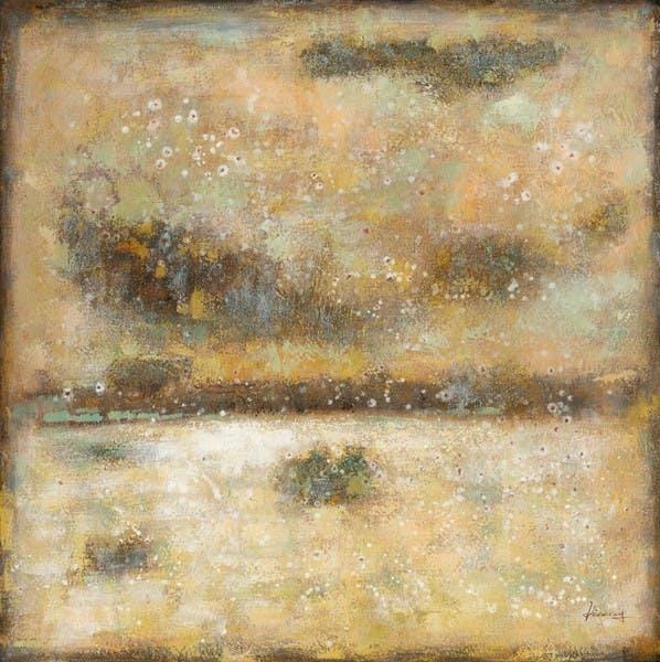 Tableau Abstrait 115x115. Peinture acrylique et feuilles métal