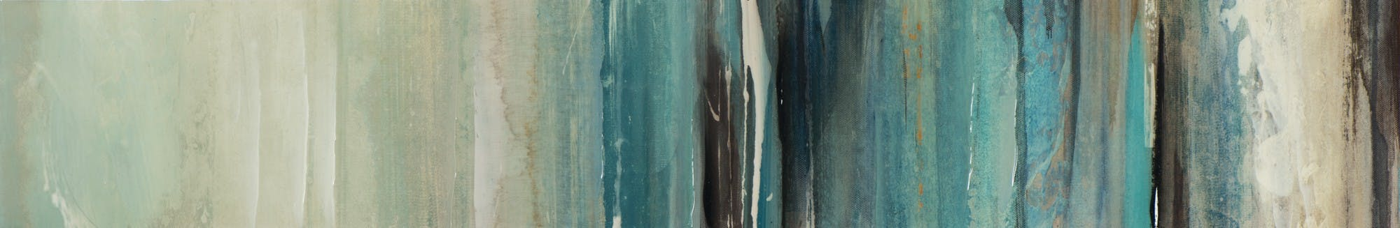 Peinture laquée 25x150cm - bleu, noir et blanc - style abstrait