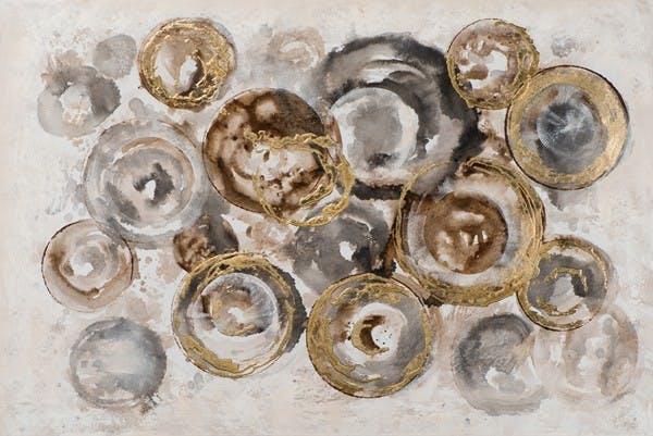 Tableau Abstrait 80x120 Doré. Peinture acrylique