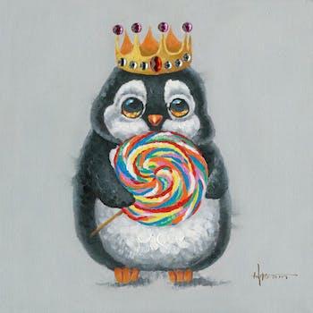 Tableau Pingouin POP ART 50x50 Peinture acrylique