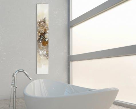 Tableau papillons 25x150 - peinture et ajouts d'éléments en relief