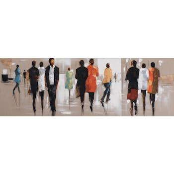 Tableau Hommes et Femmes 50x150 Peinture acrylique