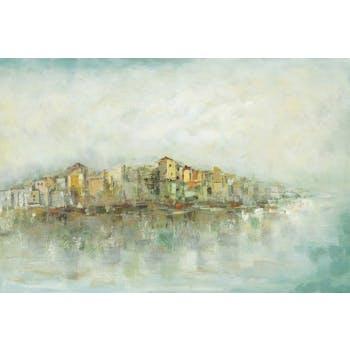 Tableau Paysage urbain abstrait 80x120 Peinture acrylique