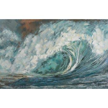 Tableau Marine abstrait 90x140. Peinture acrylique