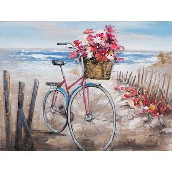 Tableau Vélo sur la plage 60x80 Peinture acrylique