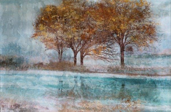 Tableau Paysage laqué 100x150. Peinture acrylique