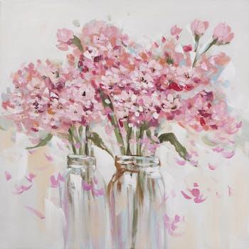 Tableau Fleurs en bouquet abstrait 70x70 Peinture acrylique