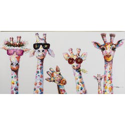 Tableau POP-ART Girafes Pop Star multicouleur 70x140cm