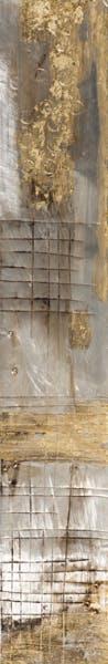 Tableau ABSTRAIT tons beiges, dorés et argentés 25x150cm - Modèle 1