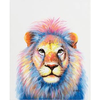 Tableau ANIMAL POP-ART Lion fabuleux couleurs vives multicolores 40x50cm