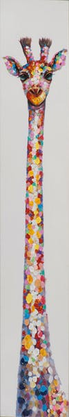 Tableau ANIMAL POP-ART girafe couleurs vives 25x150cm