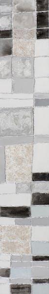 Tableau ABSTRAIT façon briques tons gris, argentés, blancs et noirs 25x150cm