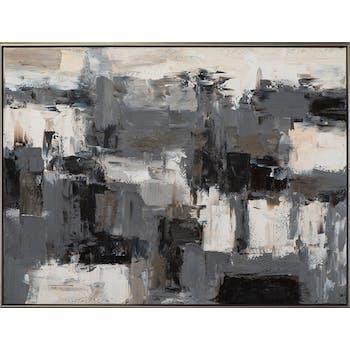 Tableau ABSTRAIT noir et blanc 92,5x122,5cm