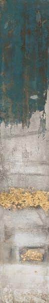 Tableau ABSTRAIT dominante beige et tons dorés et bleus 25x150cm