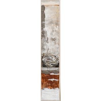 Tableau ABSTRAIT dominante brune et tons rouges et beiges 29x154cm