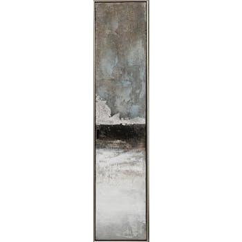 Tableau ABSTRAIT dominantes noires et blanches 29x129cm