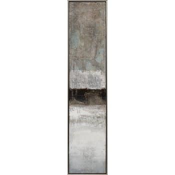 Tableau ABSTRAIT dominantes blanches et noires 29x129cm