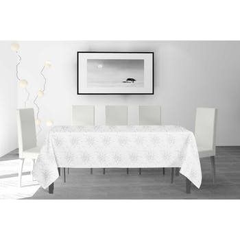 Nappe rectangulaire blanche 140x240cm
