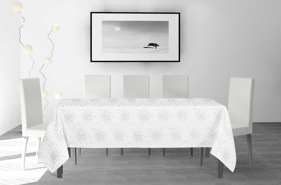 Nappe rectangulaire blanche 140x240cm